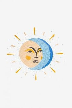 Moon & Sun - pattern - Free Embroidery Patterns - Welcome to our website, We hope you are satisfied with the content we offer. Embroidery Patterns Free, Vintage Embroidery, Embroidery Designs, Embroidery Sampler, Stitch Patterns, Embroidery Stitches, Quilt Patterns, Knitting Patterns, Inspiration Art