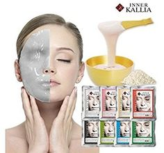 INNER KALIA Korean Modeling Rubber Mask Pack of 8 * See this great product-affiliate link-affiliate link. Beauty Care, Beauty Skin, Korean Face Mask, Face Treatment, Korean Skincare, Facial Masks, Korean Beauty, Collagen, Cool Things To Buy