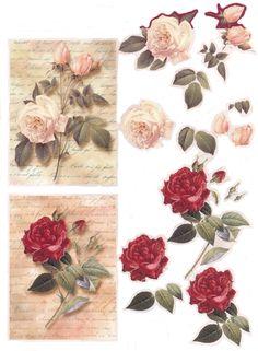 roses sur ecriture3D ark til kort