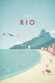Travel poster - Henry Rivers - Rio