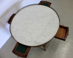 Marble Top Occasional Table with Gallery and drawers. Pre-Sale Estimate $100-$150