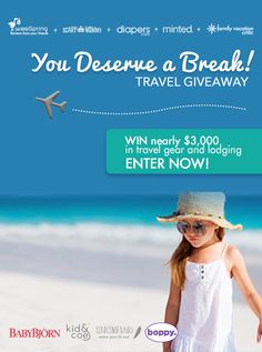 You could win almost $3,000 in baby-friendly travel gear and accommodations in weeSpring's You Deserve A Break Travel Giveaway.