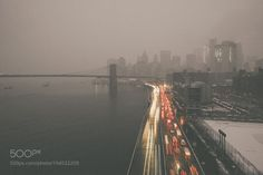 New York in heavy snow by guanglinyu11