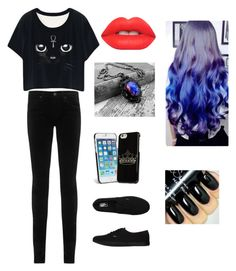 """""""Untitled 45"""" by kittenrawrr on Polyvore featuring moda, AG Adriano Goldschmied, Vans, Vera Bradley, Lime Crime, women's clothing, women, female, woman y misses"""