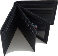 US Honor US Navy Logo Round Metal Badge Mens Leather Wallet [Chocolate Brown]
