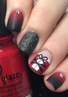 christmas-nail - 45 Joyful Christmas Nails Ideas