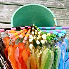 maypole ribbon wands: great idea for magic wands for helping kids explore their wishes