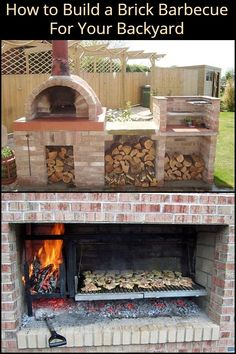 Build your own brick barbecue This Easy to Build Brick BBQ is a Great Project For The DIYer Who Doubles as a Serious Chef! Outdoor Bbq Kitchen, Pizza Oven Outdoor, Outdoor Kitchen Design, Outdoor Cooking, Brick Oven Outdoor, Outdoor Barbeque, Brick Built Bbq, Brick Bbq, Built In Bbq