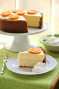 Clementine Mousse Cheesecake (I don't even LIKE cheesecake, and I want to try and make this one!)
