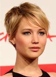 The pixie haircut is a short hairstyle with a twist to it. It is short on the back and sides and longer in the front. Picture it! Doesn't it just seem glamorous!