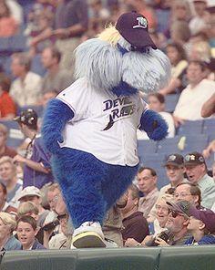 """Tampa Bay """"Rays"""" baseball mascots Raymond.."""