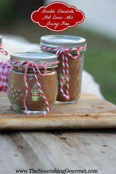 Double Chocolate Hot Cocoa Mix {Dairy Free, Refined Sugar Free}