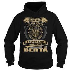 BERTA Last Name, Surname T-Shirt