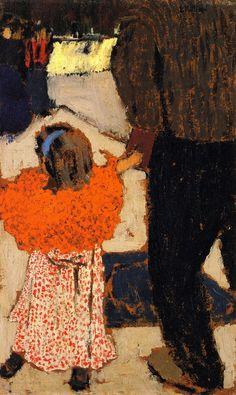 The Athenaeum - Girl Wearing an Orange Shawl (Edouard Vuillard - ) 1894-1895