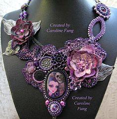 Celina - A necklace inspired by scrap fabrics treasure