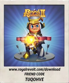 Build your own kingdom and lead your army to victory! https://youtu.be/QWxj-qPPncY  Download Royal Revolt 2 on your mobile device: www.royalrevolt.com/download    Start the game and get an EPIC reward by entering this friend code: TUQOHVE
