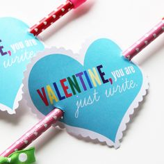 Pencil Arrow Valentines-free printable included
