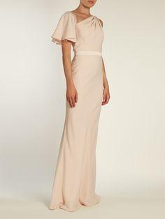 Asymmetric one-shoulder gown by Alexander McQueen