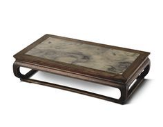 A HUANGHUALI AND MARBLE STAND<br>17TH CENTURY | Lot | Sotheby's