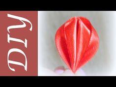 Оригинальный круглый лепесток канзаши/Kanzashi original round petal - YouTube