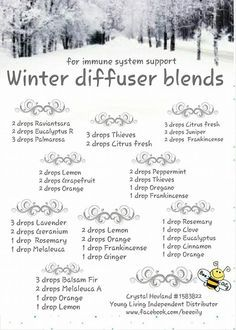 >Young Living Essential Oils: Diffuser Blends Recipes Winter www.youngliving.org/ambermoore