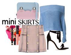 """Mini Skirt"" by cocojeansblog on Polyvore featuring moda, TIBI, Alexandre Birman, La Cartella, Balmain, NARS Cosmetics, Yves Saint Laurent e MINISKIRT"