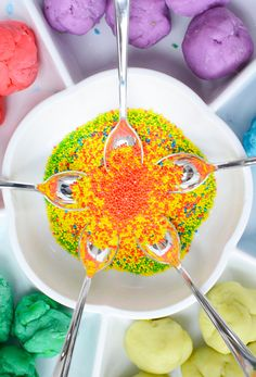 playdough and sprinkles for toddlers - plus 9 more invitations to sensory play for kids