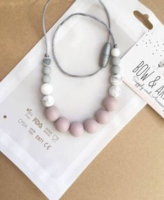 15% Blush Teething Necklace/ Silicone Necklace/ Gift For Her/ Baby Wrap Carrier/ Nursing/ Baby Shower Gift/ New Mom https://www.bowandarrowaccessory.com/