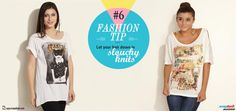 Fashion Tip #6: Let your hair down in slouchy knits.  Easy-chic just got super-smooth! Snapdeal fashionistas are diggin' the sports-luxe this season and we love how these slouchy knit t-shirts are keeping us cool.