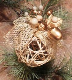Easy Home Made Christmas Decorations | Simple Chique Tree Ornament - Homemade Christmas Ornaments, Straw ...