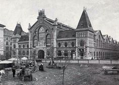 Main Market Hall around 1900 Old Pictures, Old Photos, Vintage Photos, Vintage Architecture, Austro Hungarian, Budapest Hungary, Budapest City, Wide World, Historical Photos