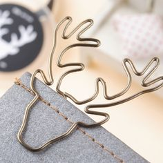 Free shipping vintage deer clip bookmark plus size pin stationery gold deer…