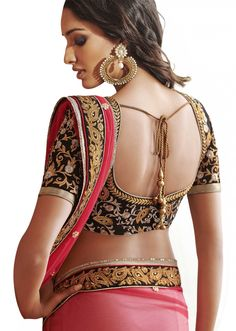 Red and Cream GeorgetteSaree