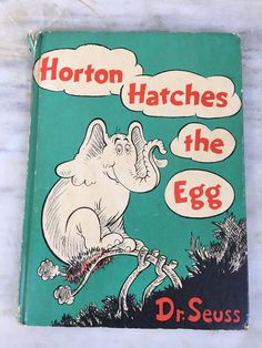 vintage Dr. Seuss Horton Hatches the Egg book, Random House, New York, copyright 1940, first edition by MotherMuse on Etsy