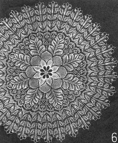Beautiful knit lace. Chart