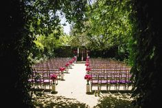 Purple and Gold Ceremony | Michael Daigian Design | Annadel Estate Winery | Arrowood Photography | TheKnot.com