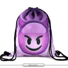 2016 new fashion backpack 3D printing travel softback man women harajuku drawstring bag mens backpacks
