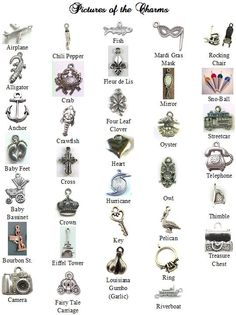 Over 30 Traditional and New Orleans Charms - I do type the meanings of the charms you select - You can attach the charms to a ribbon for your wedding cake pulls - $2.50 each