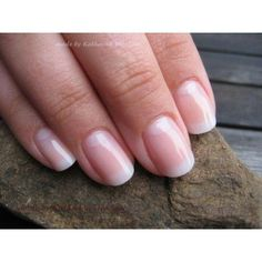 CND Shellac nail color Romantique# french manicure found on Polyvore featuring polyvore, beauty products, nail care, nail treatments, nails and makeup