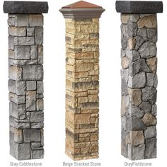 I have to have this......  Cast stone post covers at The Home Depot =)