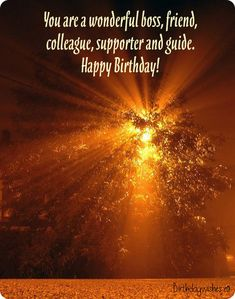Happy birthday boss quotes, messages and greeting cards. Check out this great collection of professional birthday wishes for boss with images. Happy Birthday Boss Quotes, Birthday Wishes For Boss, Sweet Birthday Messages, Belated Birthday Wishes, 50 Birthday, Happy Birthday To Us, Boss Top, Good Boss, How To Be A Happy Person