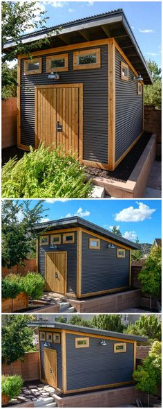 First of all, we came up with an outstanding garden shed project that is beautiful enough to bring a majestic change in your house surrounding. The superb designing of this backyard structure seems re Backyard Storage Sheds, Storage Shed Plans, Backyard Sheds, Backyard Patio, Garden Sheds, Outdoor Sheds, Garden Tips, Backyard Cabana, Garden Storage Shed