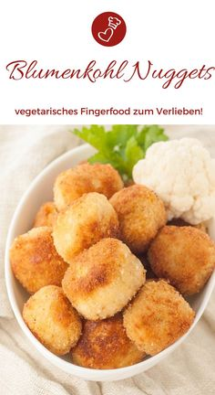 Fingerfood Rezepte, Blumenkohl Rezepte: Rezept für Blumenkohl Nuggets von herze… Finger Food Recipes, Cauliflower Recipes: Recipe for Cauliflower Nuggets from Herzelieb. Cauliflower Nuggets, Cauliflower Recipes, Veggie Recipes, Vegetarian Recipes, Chicken Recipes, Snack Recipes, Healthy Recipes, Snacks, Vegetarian Cooking