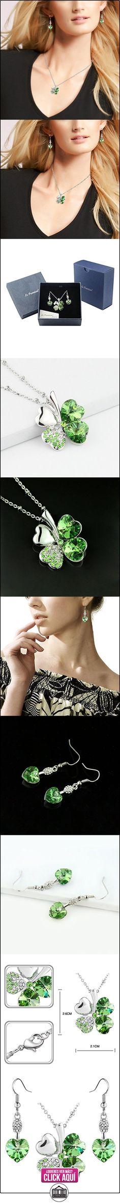 Le Premium® joyería Set colgante Trébol collar + Pendiente pendiente en forma de corazón de SWAROVSKI peridoto cristales verdes  ✿ Joyas para mujer - Las mejores ofertas ✿ ▬► Ver oferta: https://comprar.io/goto/B006X8HNU8