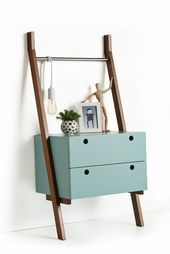 Nightstand Ideas, Get ideas for dressing up bedroom nightstands or building your own. bedside tables DIY creative and unique Unique Furniture, Kids Furniture, Furniture Design, Furniture Plans, Furniture Stores, System Furniture, Furniture Market, Furniture Chairs, French Furniture