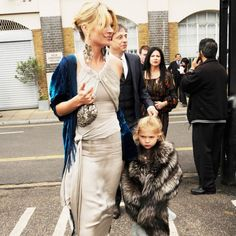 Kate Moss never gets rid of her old clothes—she keeps them in storage for her daughter Lila Grace.