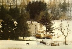"""Kuerner Farm House A location so often the subject of paintings by Andrew Wyeth. Photograph by James A. Warner and Margaret J. White from """"The World of Andrew Wyeth: In the Footsteps of the Artist,"""" a book all fans of Andrew Wyeth will find well worth owning."""