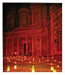 Petra by night - guided tour in Jordan by Chronostravel cyprus