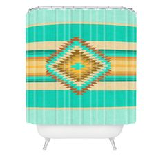 Bianca Green Fiesta Teal Shower Curtain | DENY Designs Home Accessories