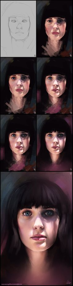 Colours of Summer Step by Step by AaronGriffinArt.deviantart.com on @deviantART ✤ || this is freaking amazing!